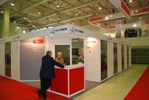 Türöffner in fremden Ländern: Der Swissmem-Stand kurz vor der Eröffnung einer grossen Maschinenbaumesse 2010 in Moskau.