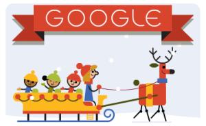 Weihnachtliches Google-Logo.