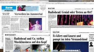 Immer mal wieder ein Thema in der «Südostschweiz»: die britische Band Radiohead.