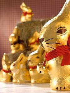 Eines der grössten Erfolgsprodukte von Lindt & Sprüngli: die Goldhasen. (Pressebild)